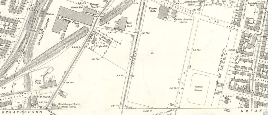 1894 OS Map Strathbungo & Coplawhill