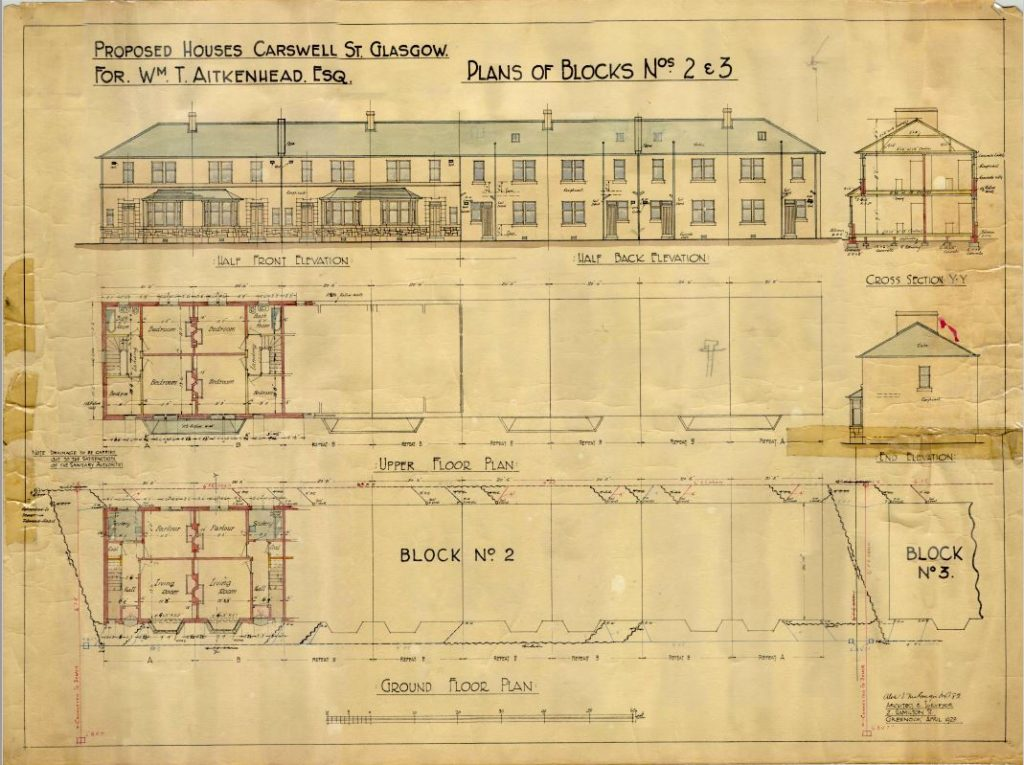 Architectural Drawings for Carswell Gardens