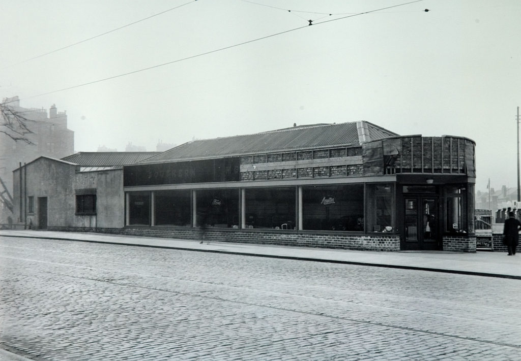 Southern Motors Garage, Pollokshaws Road at Titwood Road, now McMillan's