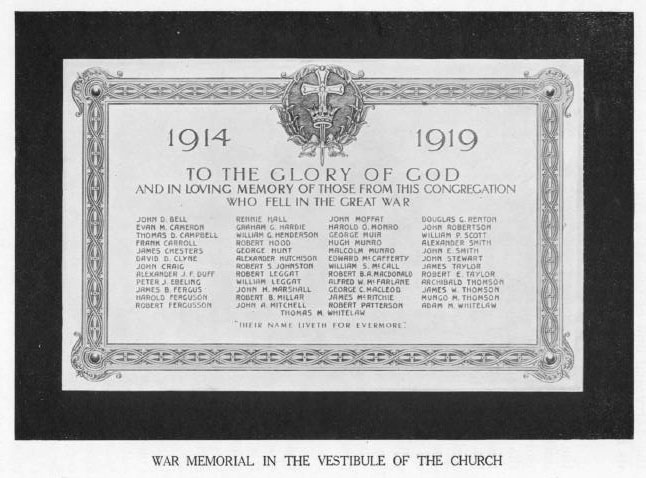 Roll of Honour, The Great War