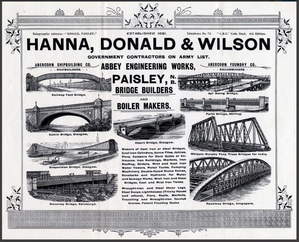 Hanna, Donald & Wilson advert