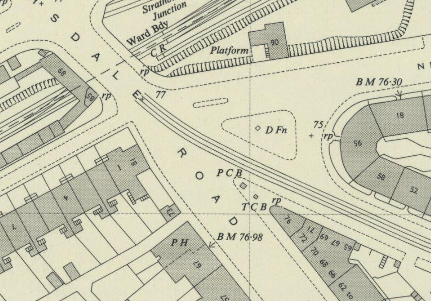 OS Map 1951, fountain