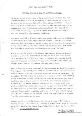 1971 Amenity Society Proposal