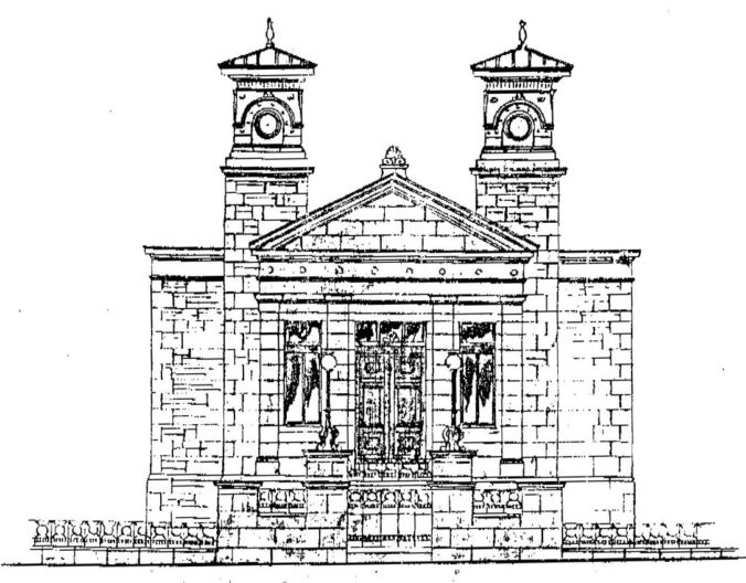 Skirving's original drawings for Mission Hall Nithsdale Road