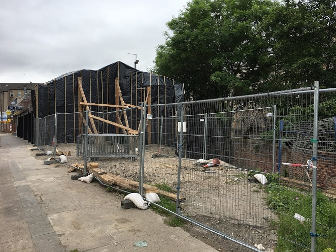 Nithsdale no more - site following demolition in June 2017