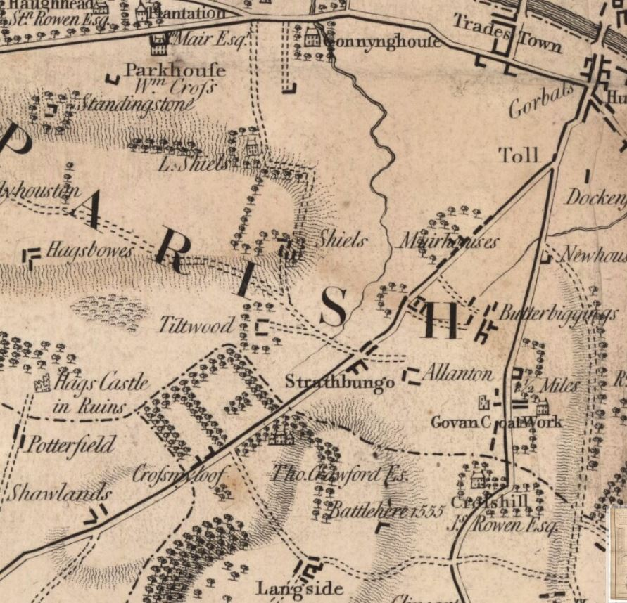 Thomas Richardson. Town of Glasgow Country Seven Miles Around. 1795