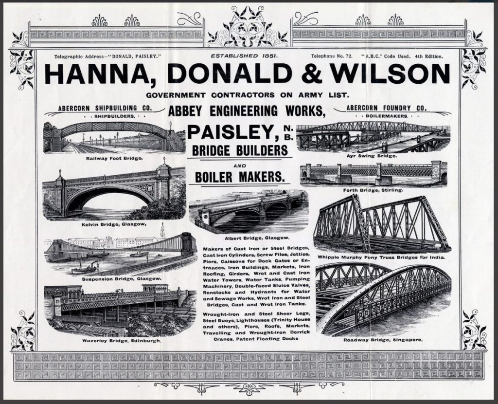 Hanna, Donald & Wilson advert