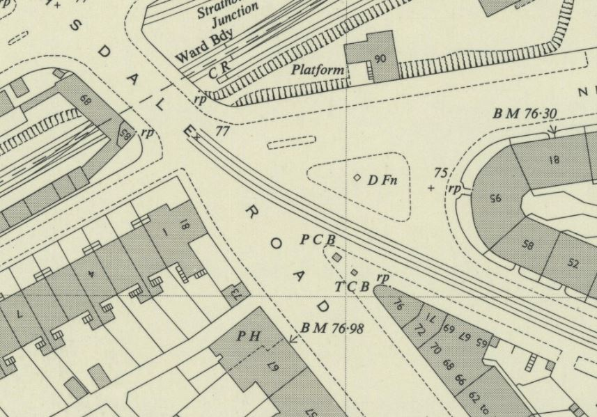 OS Map 1951, fountain