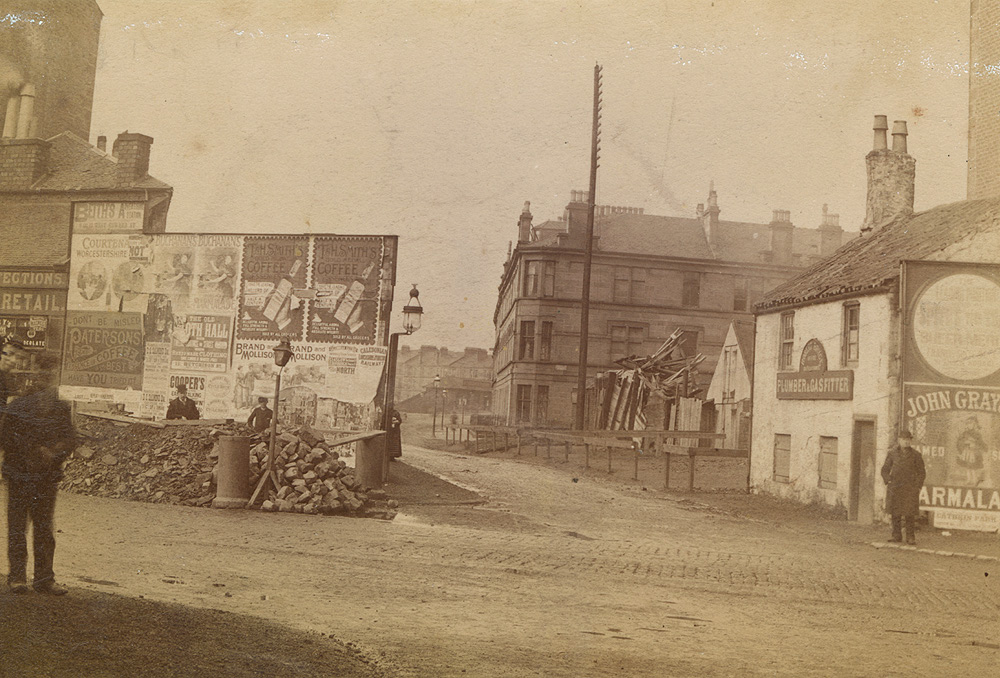 Strathbungo 1890s, from Allison Street, Strathbungo Station in the far distance